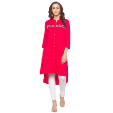 Load image into Gallery viewer, Pink Embroidered Kurta-1