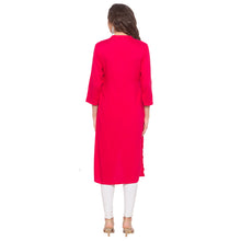 Load image into Gallery viewer, Pink Embroidered Kurta-3