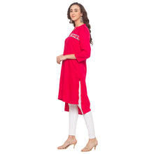 Load image into Gallery viewer, Pink Embroidered Kurta-2