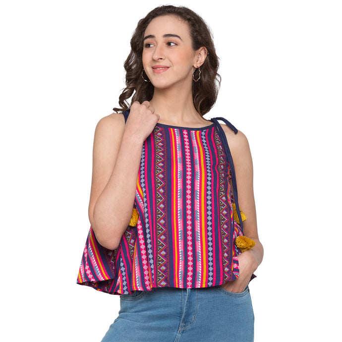 Globus Pink Striped Top1