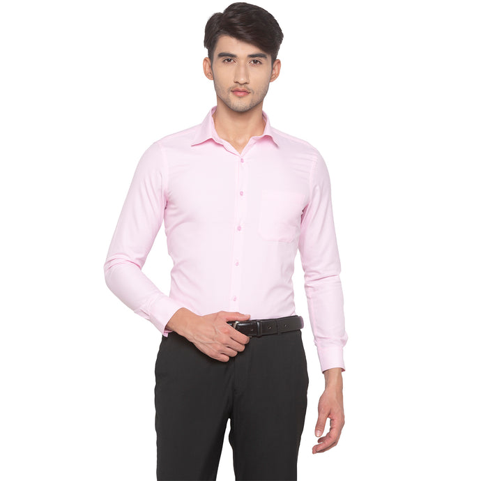 Pink Solid Shirt-1