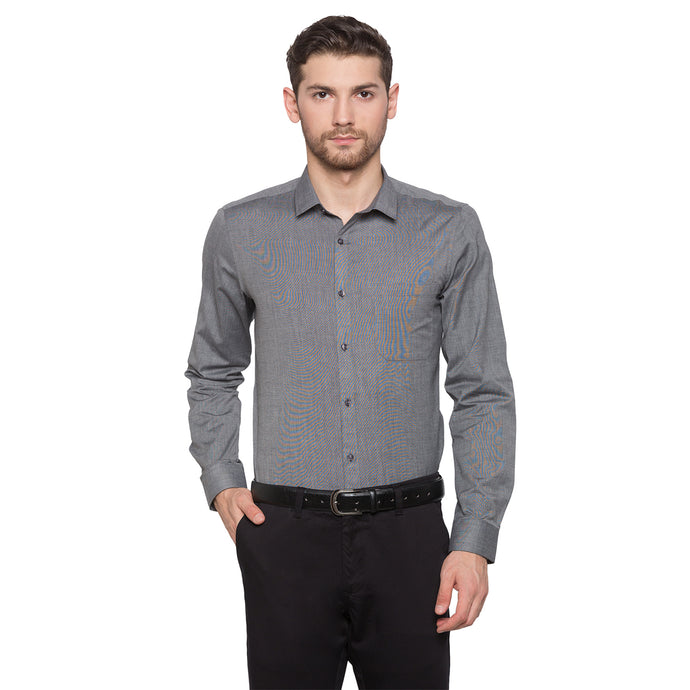 Globus Grey Solid Shirt1