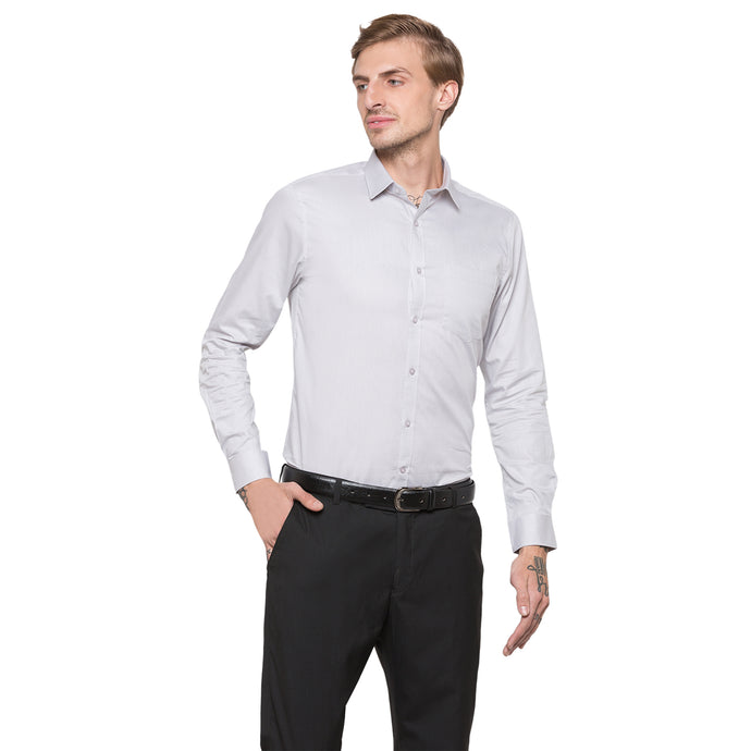 Globus Grey Solid Shirt-1