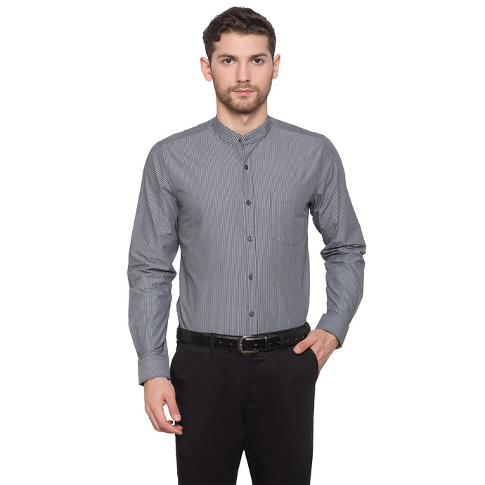 Globus Grey Striped Shirt1