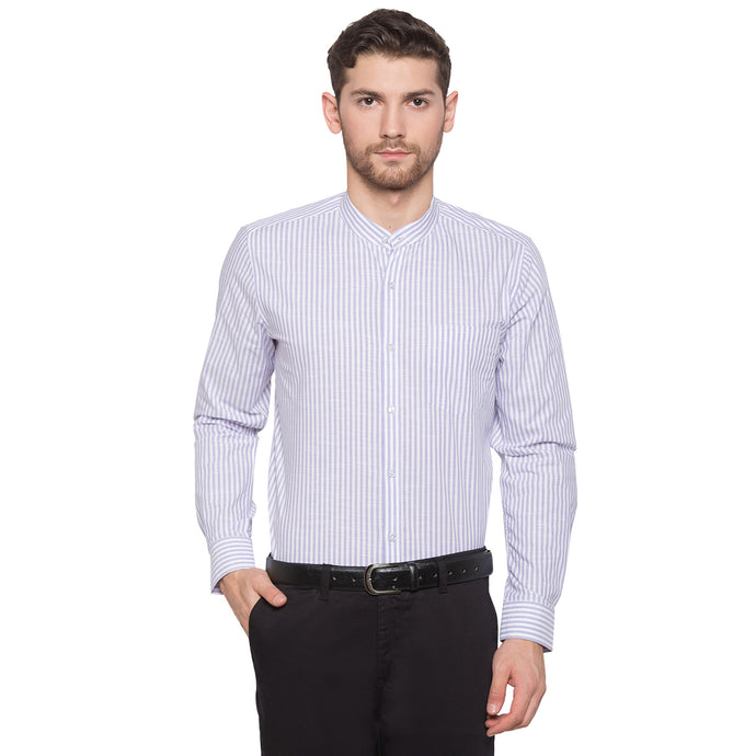 Globus White Striped Shirt1