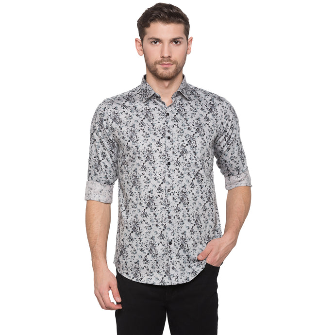Globus Grey Printed Shirt1