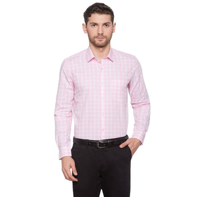 Globus Pink & White Checked Shirt1