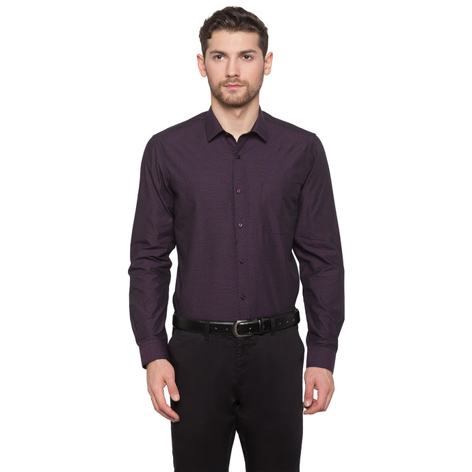 Globus Purple Self Design Shirt1