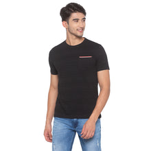 Load image into Gallery viewer, Black Striped T-Shirt-1