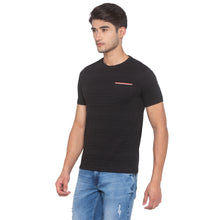 Load image into Gallery viewer, Black Striped T-Shirt-2