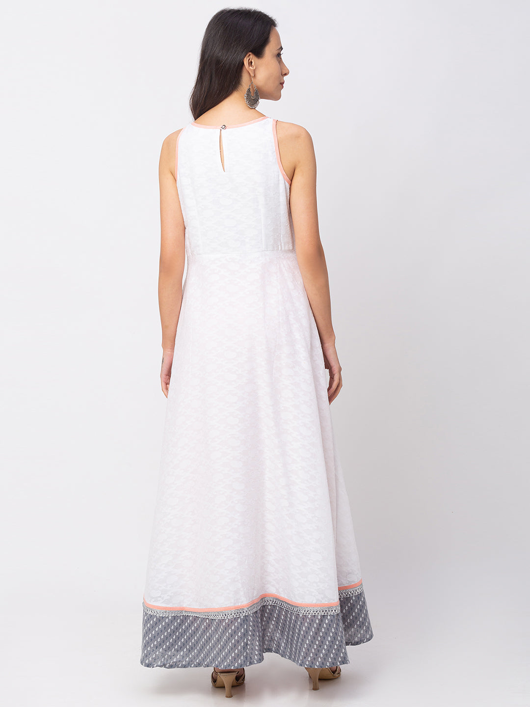 Globus White Printed Dress-3