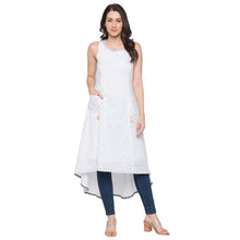 Load image into Gallery viewer, Globus White Printed Kurta-4