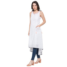Load image into Gallery viewer, Globus White Printed Kurta-2