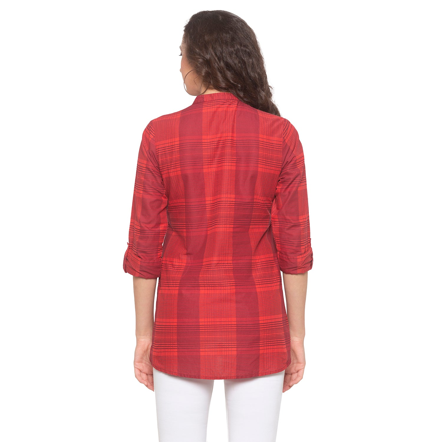 Red Checked Top-3
