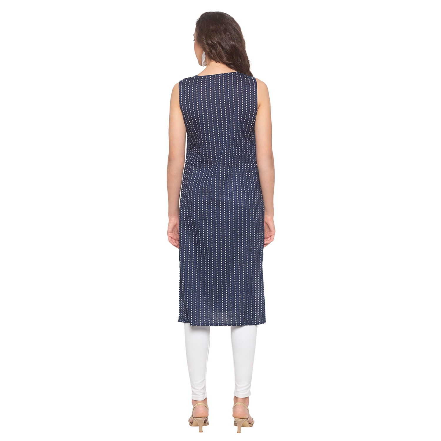 Blue Printed Kurta-3