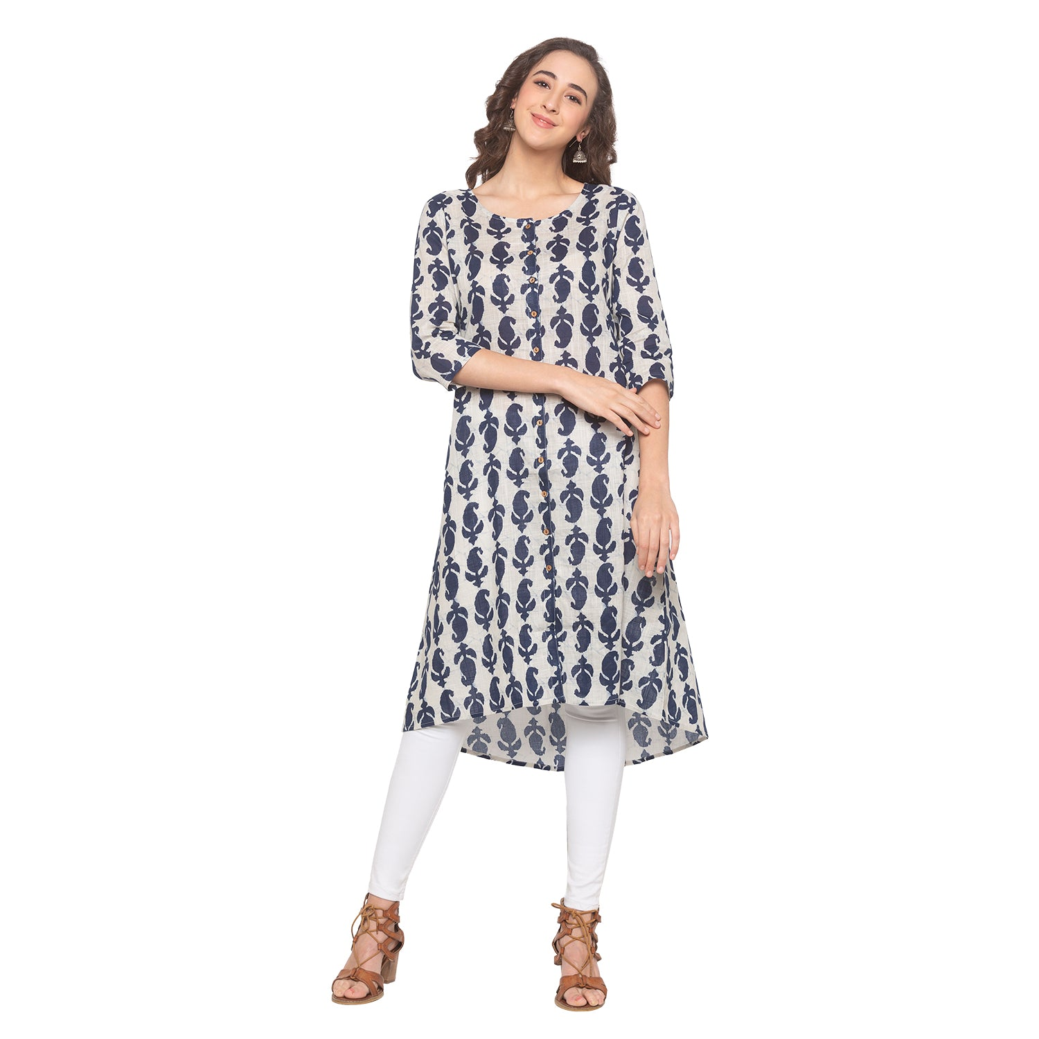 Blue Printed Kurta-4
