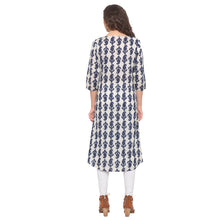 Load image into Gallery viewer, Blue Printed Kurta-3