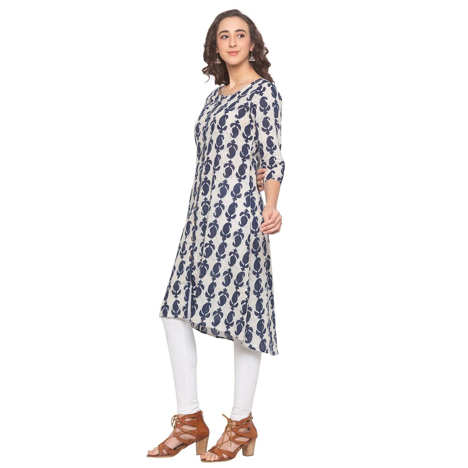 Blue Printed Kurta-2