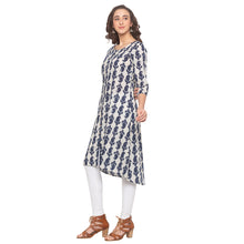 Load image into Gallery viewer, Blue Printed Kurta-2