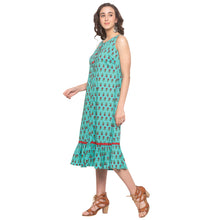 Load image into Gallery viewer, Teal Printed Dress-2