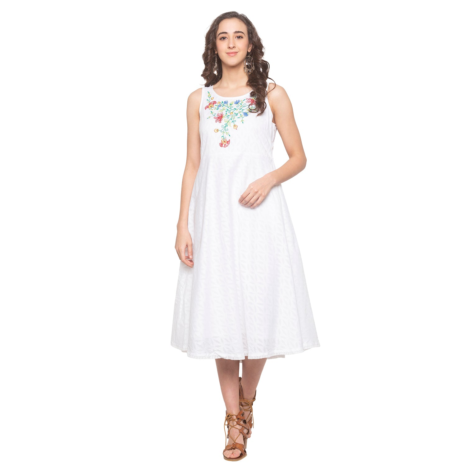 White Embroidered Dress-1