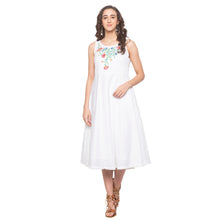 Load image into Gallery viewer, White Embroidered Dress-1