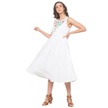 Load image into Gallery viewer, White Embroidered Dress-4