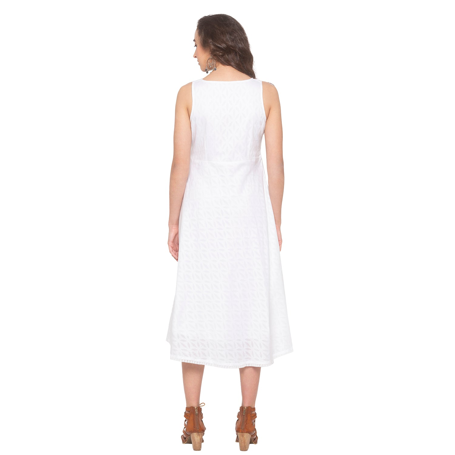 White Embroidered Dress-3