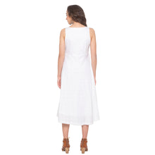 Load image into Gallery viewer, White Embroidered Dress-3