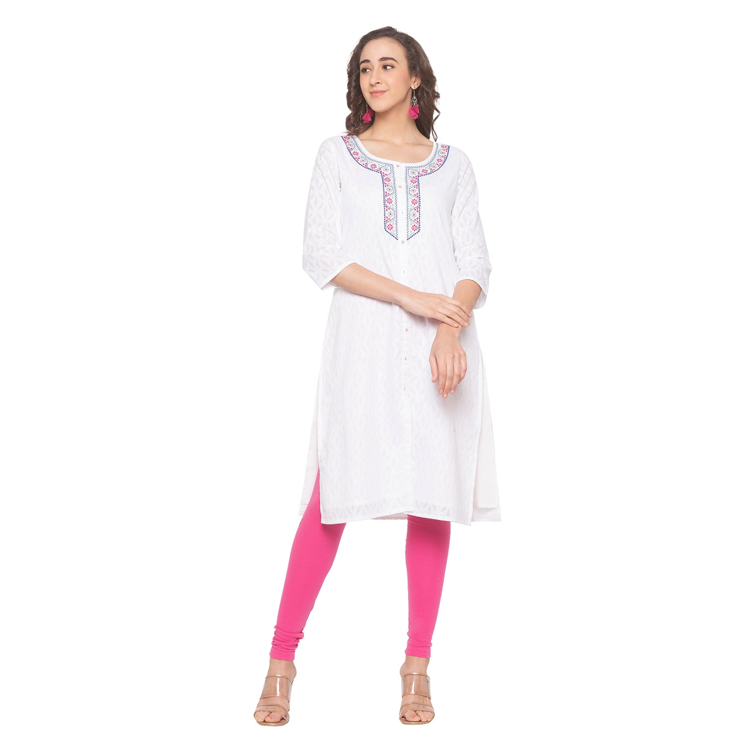 White Printed Kurta-4