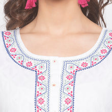 Load image into Gallery viewer, White Printed Kurta-5