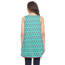 Load image into Gallery viewer, Teal Printed Top-3