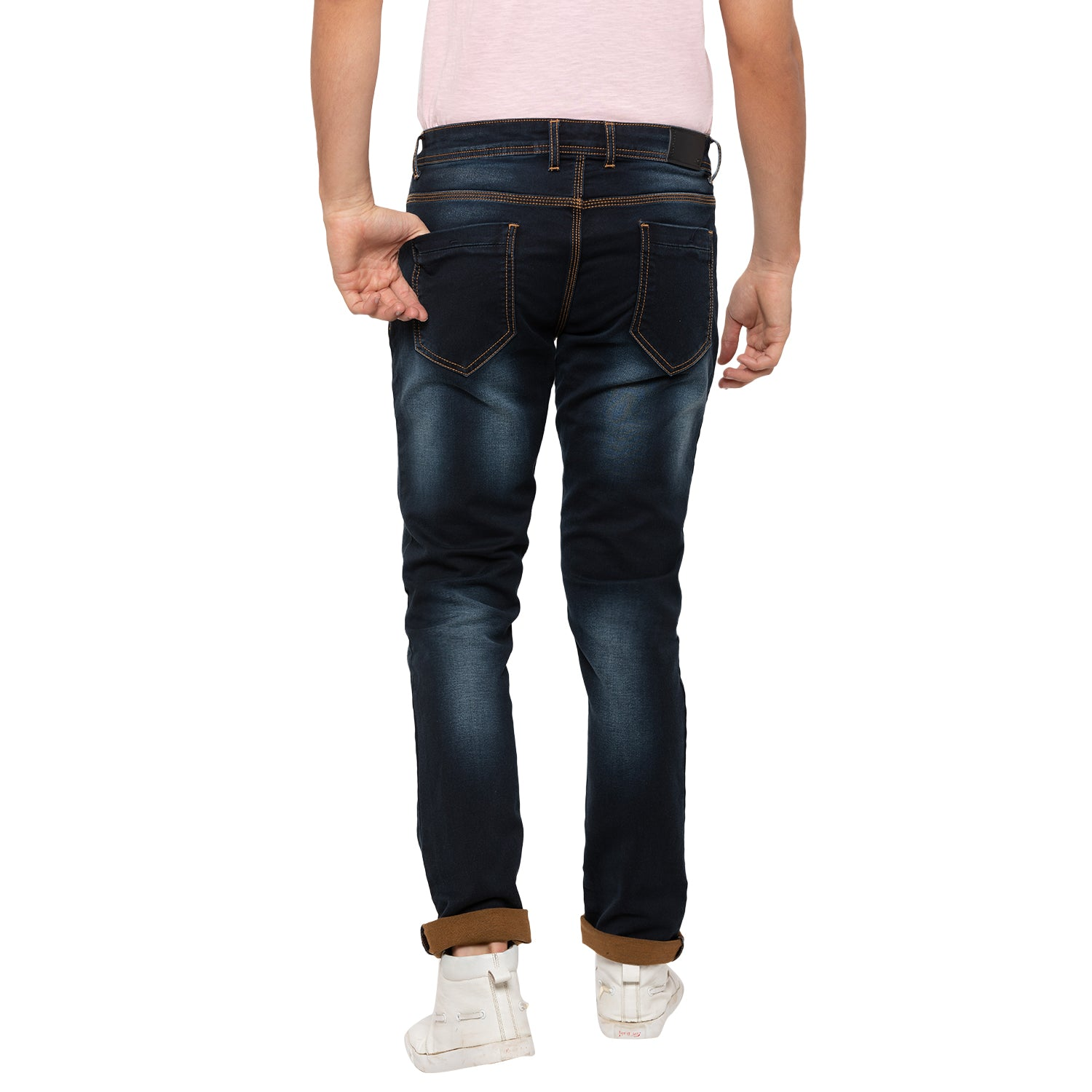 Globus Navy Washed Clean Look Jeans-3