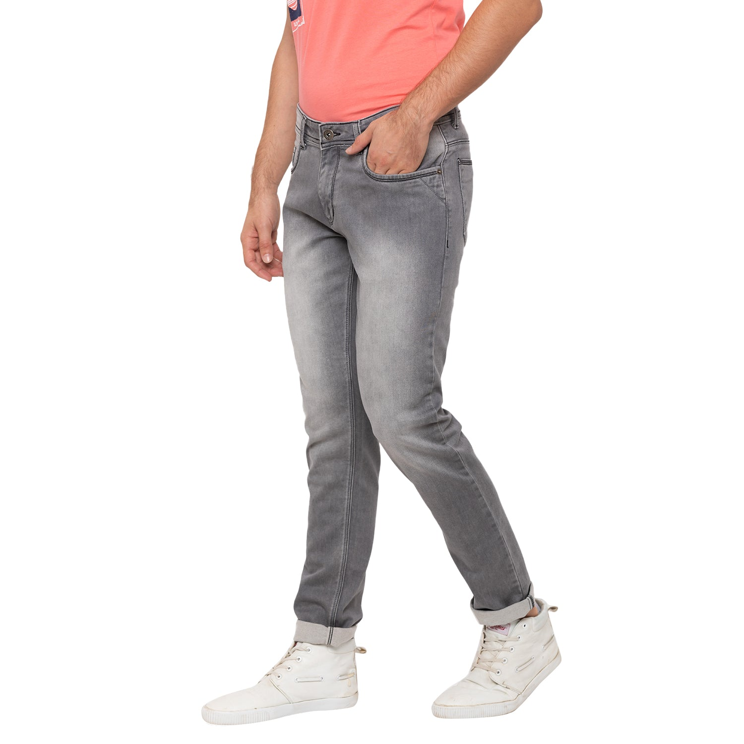 Globus Grey Washed Clean Look Jeans-2