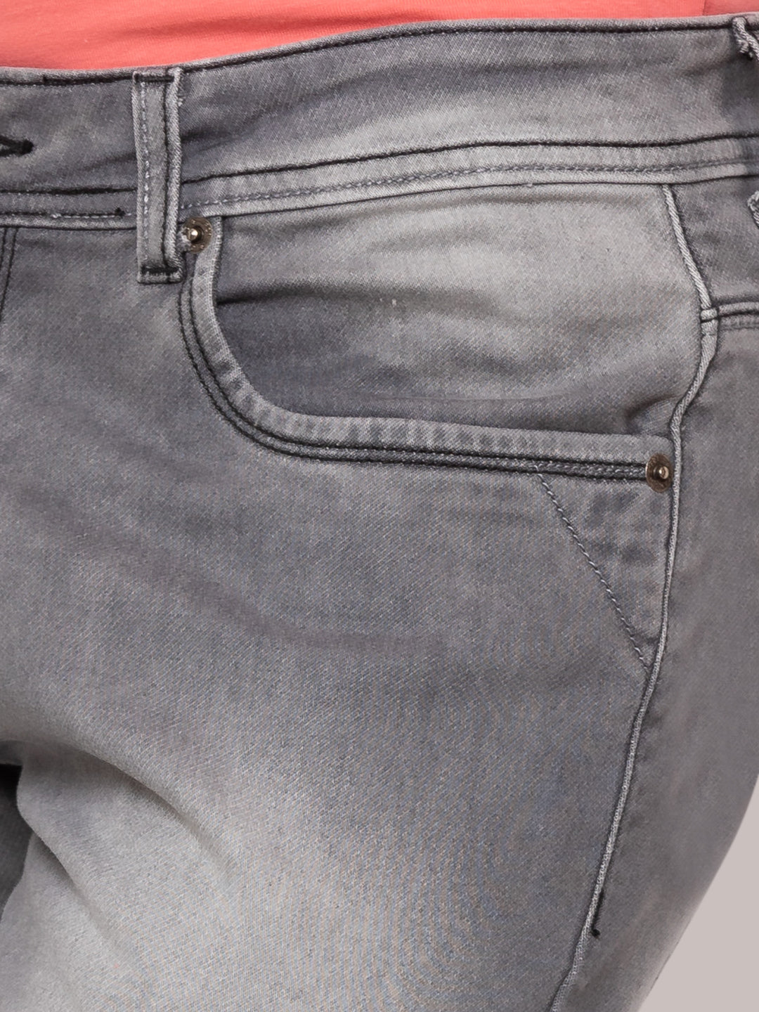 Globus Grey Washed Clean Look Jeans-5