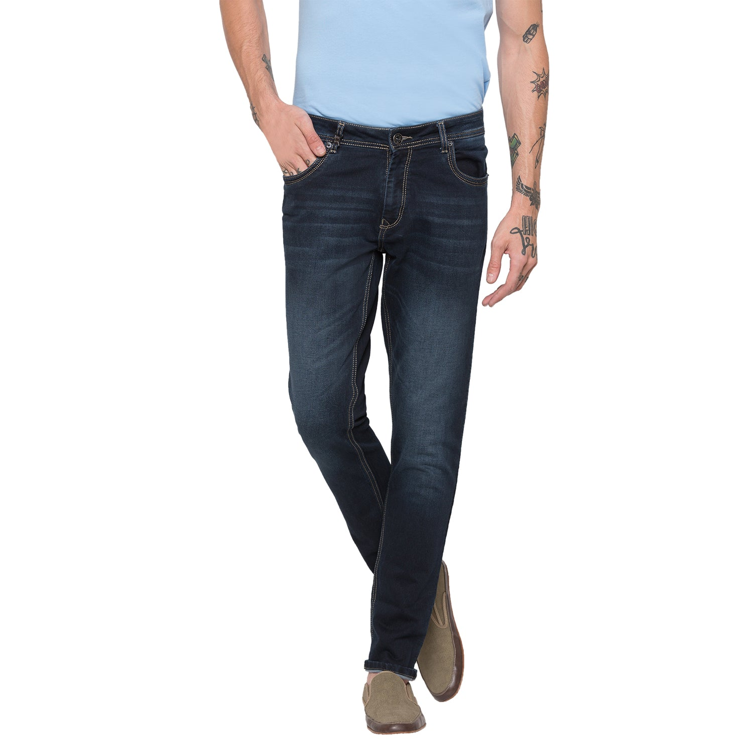 Globus Blue Black Clean Look Jeans-1