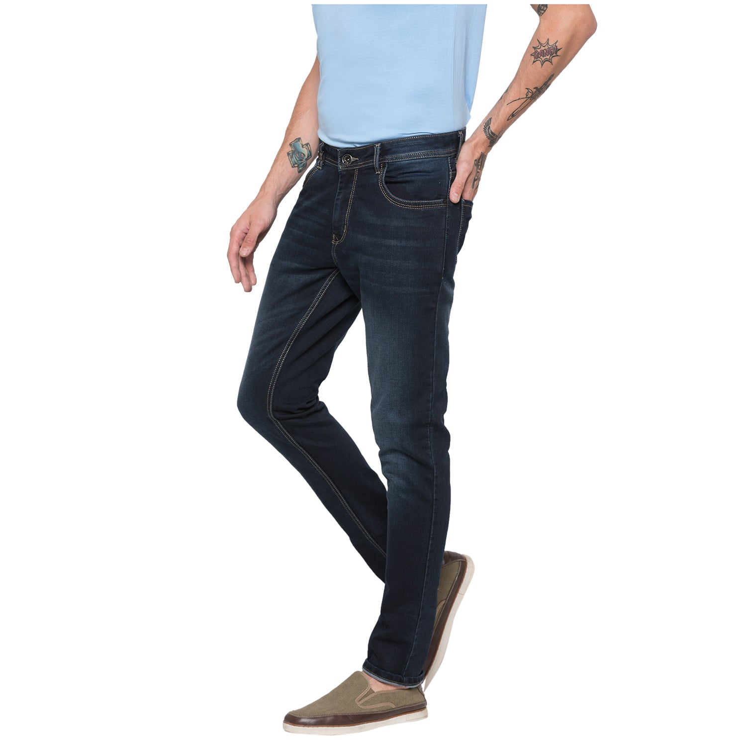 Globus Blue Black Clean Look Jeans-2