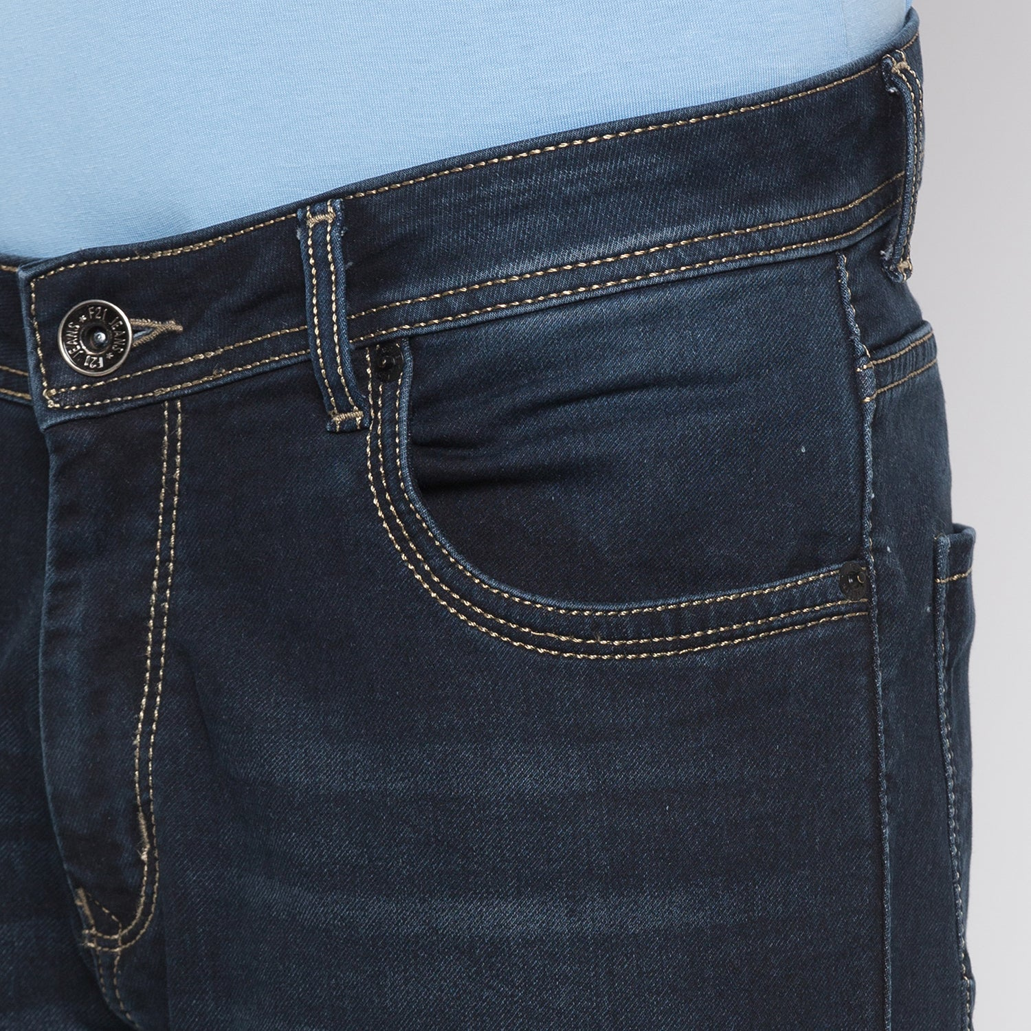 Globus Blue Black Clean Look Jeans-5