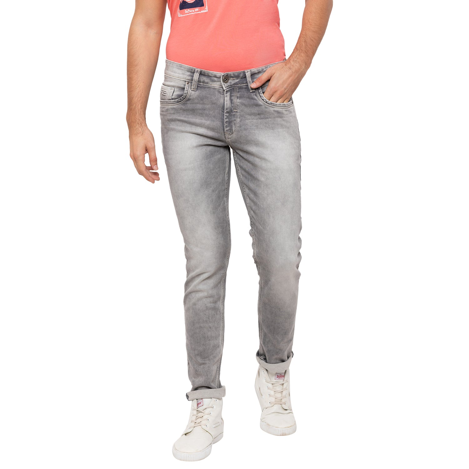 Globus Grey Washed Clean Look Jeans-1