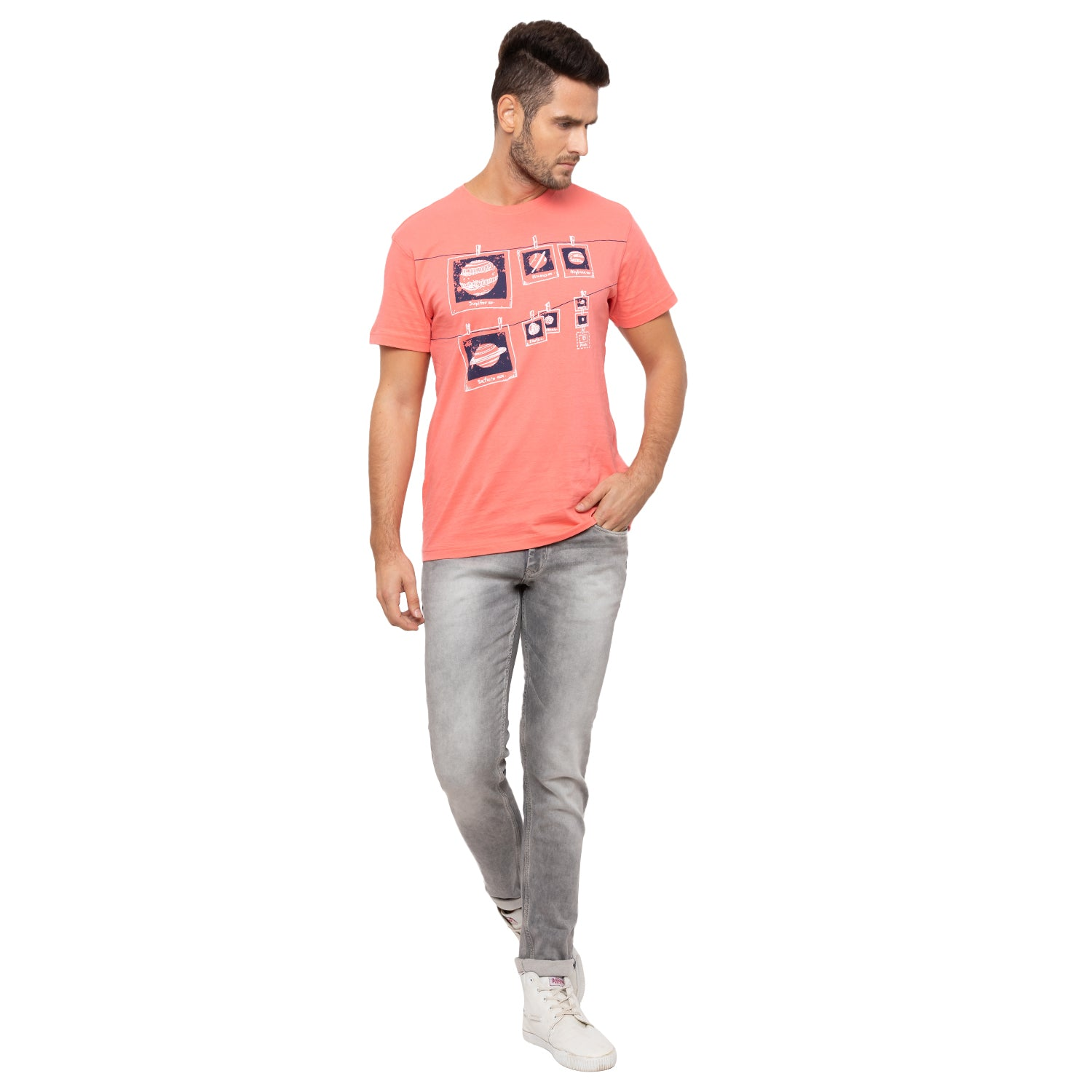 Globus Grey Washed Clean Look Jeans-4
