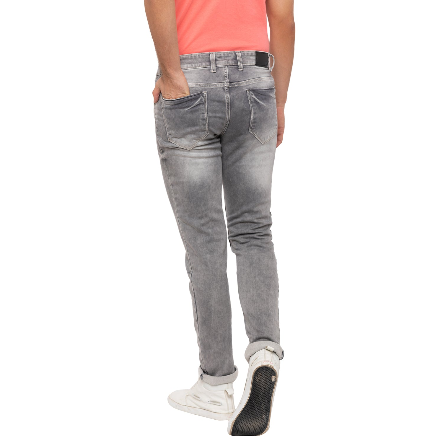 Globus Grey Washed Clean Look Jeans-3