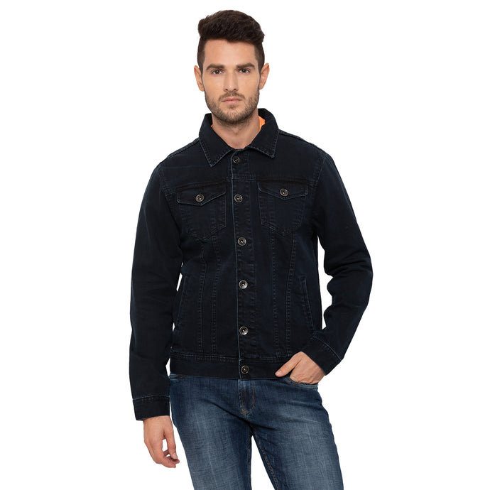 Globus Black Solid Jacket-1