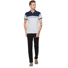 Load image into Gallery viewer, Globus Navy Blue Striped Polo T-Shirt-4
