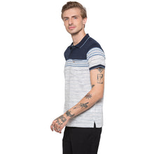 Load image into Gallery viewer, Globus Navy Blue Striped Polo T-Shirt-2