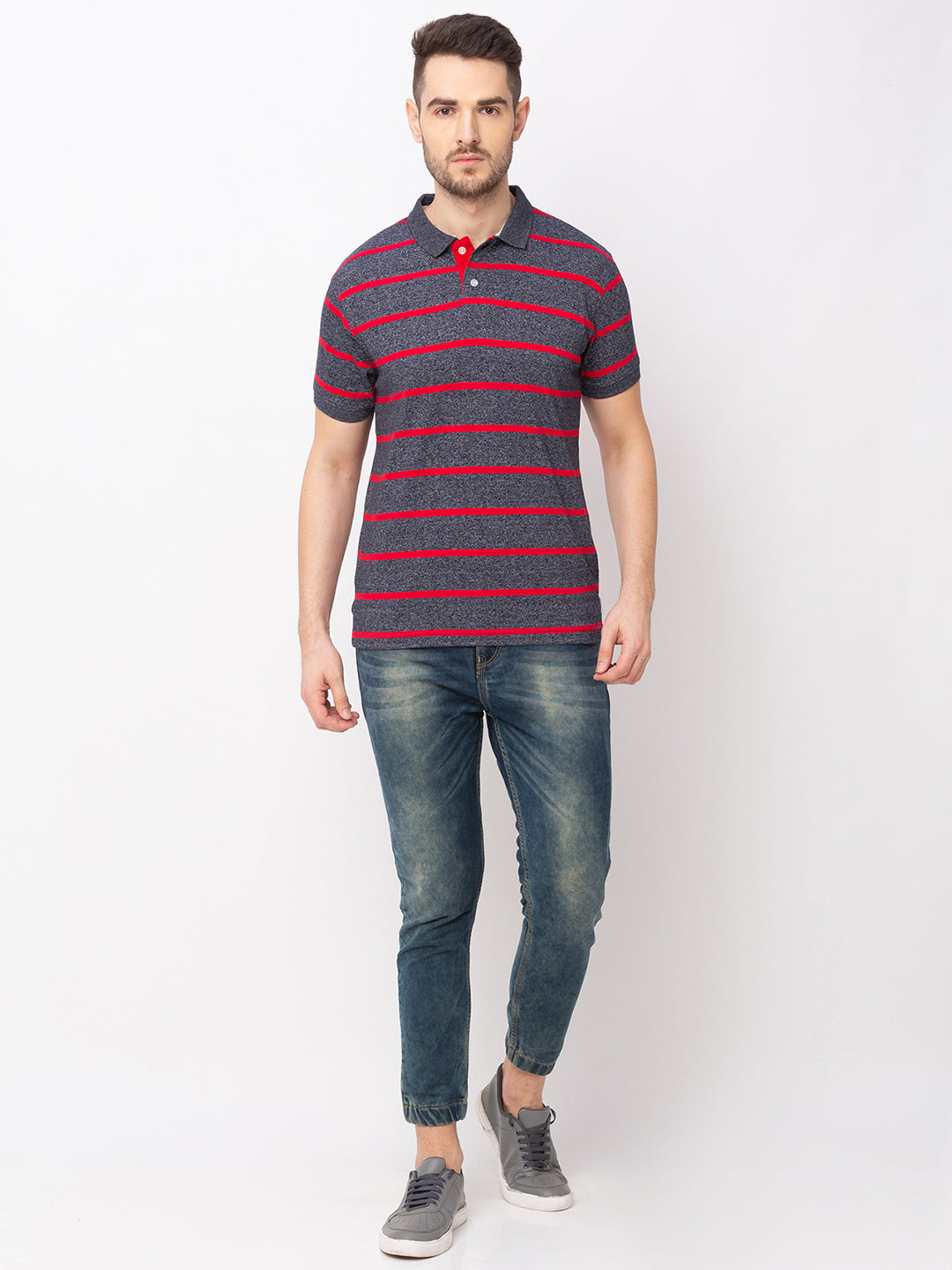 Globus Red Striped T-Shirt-5
