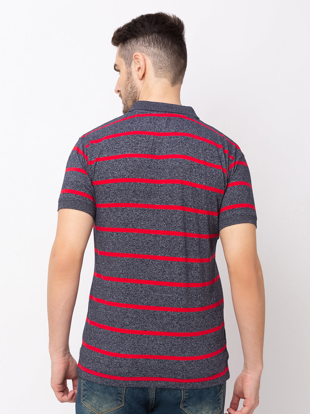 Globus Red Striped T-Shirt-3