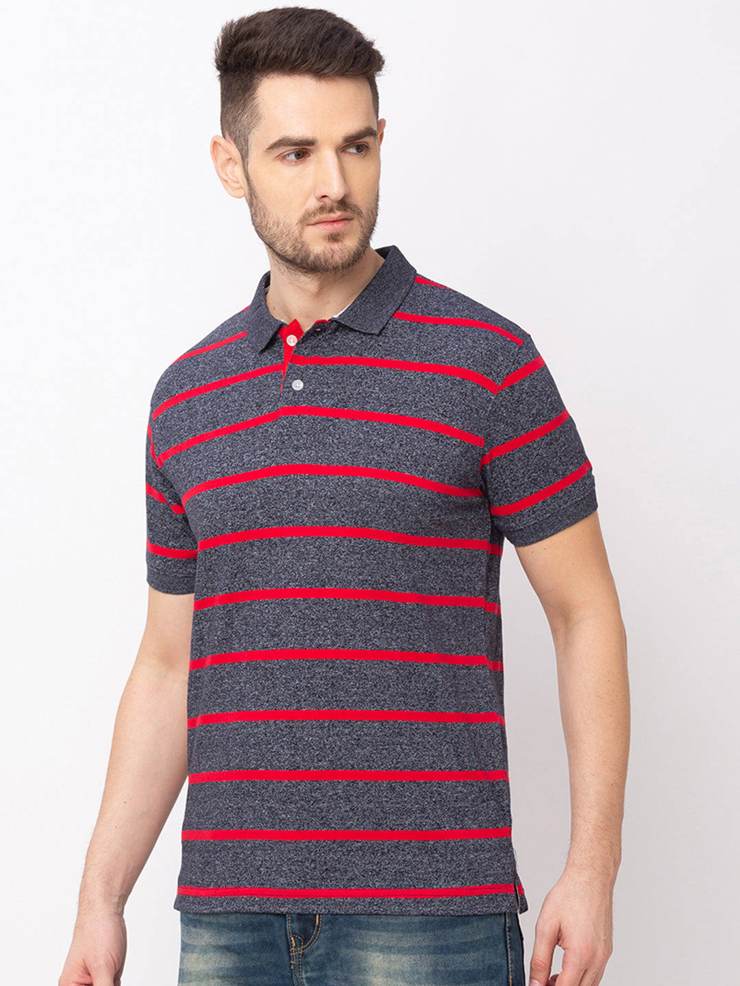 Globus Red Striped T-Shirt-2