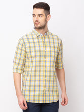 Load image into Gallery viewer, Globus Yellow Checked Shirt-1