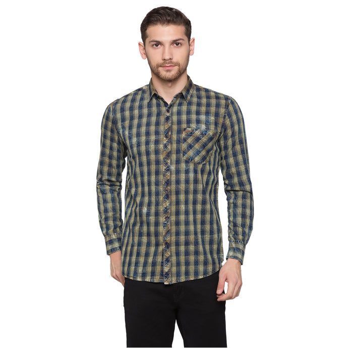 Globus Blue Checked Shirt1