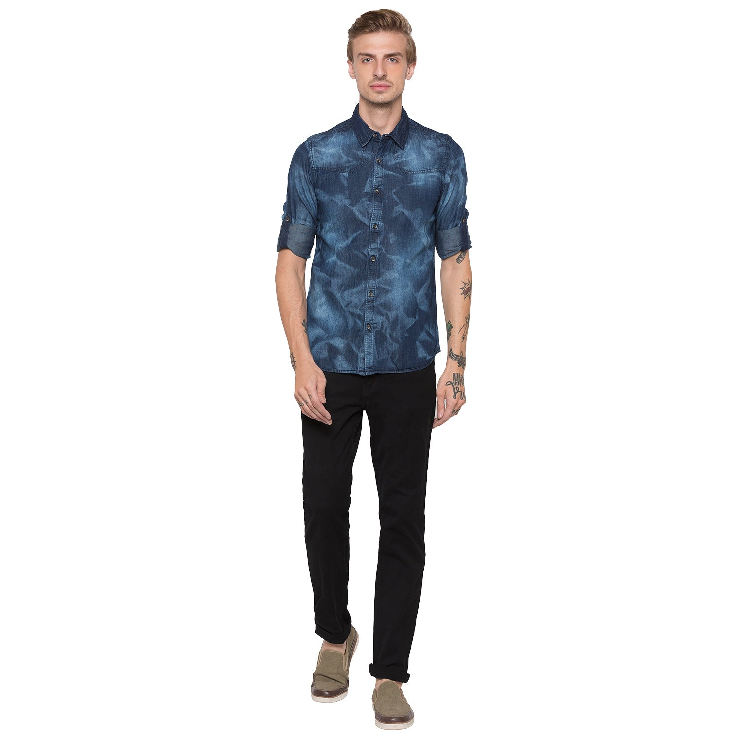 Globus Blue Printed Shirt-4